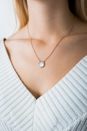 Shell Necklace Myra Rose Gold &  Eternity Necklace Circle Rose Gold