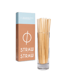 Box of Straw by Straw and straws of Straw by Straw bundled in a glass.
