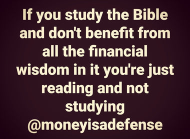 Study To Show Thyself Approved Financially