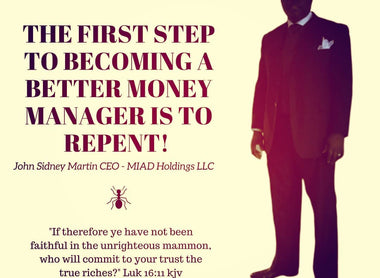 The First Step to Becoming a Better Money Manager is to Repent.