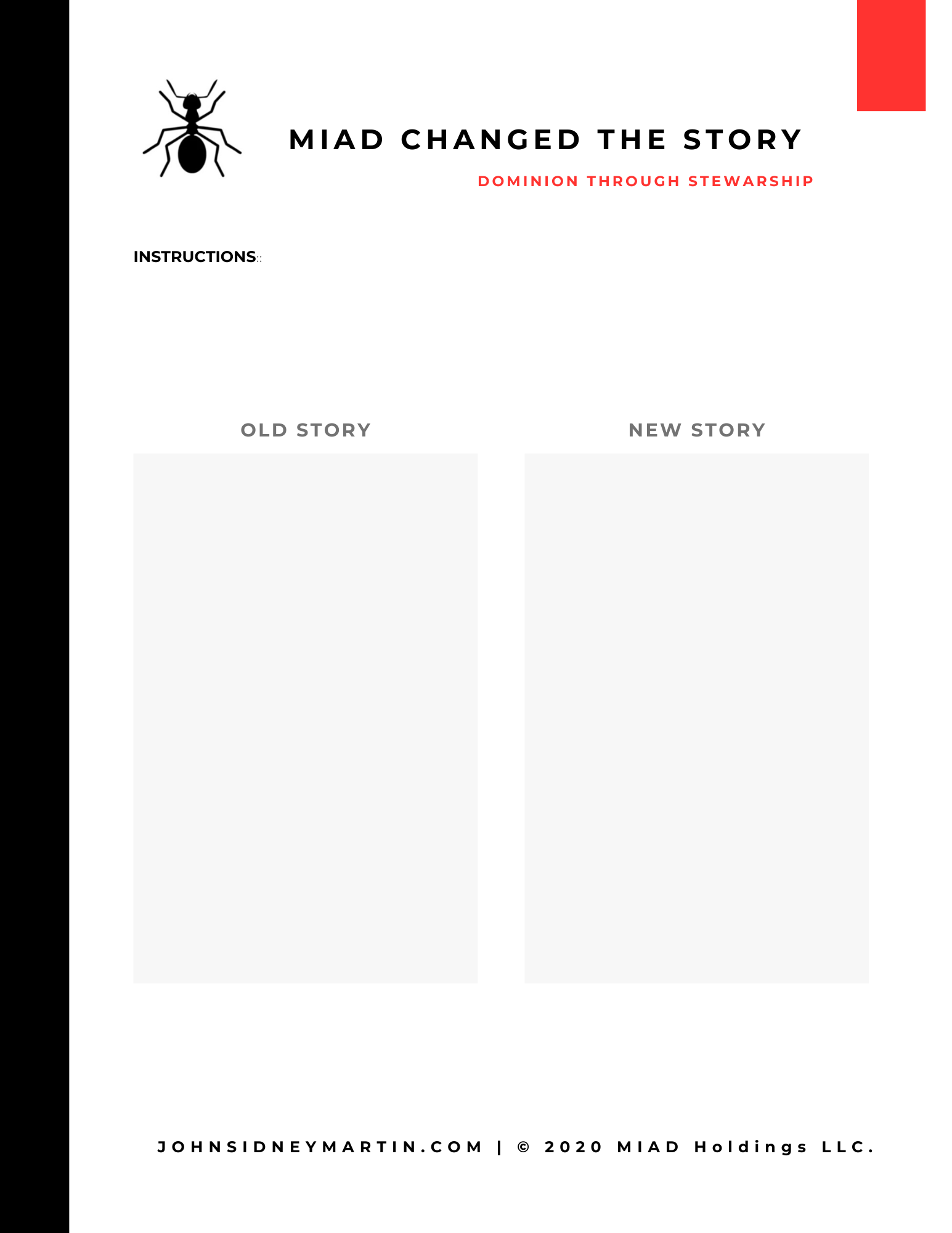 MIAD Change The Story Worksheet
