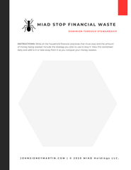 MIAD  Stop Financial Waste Worksheet