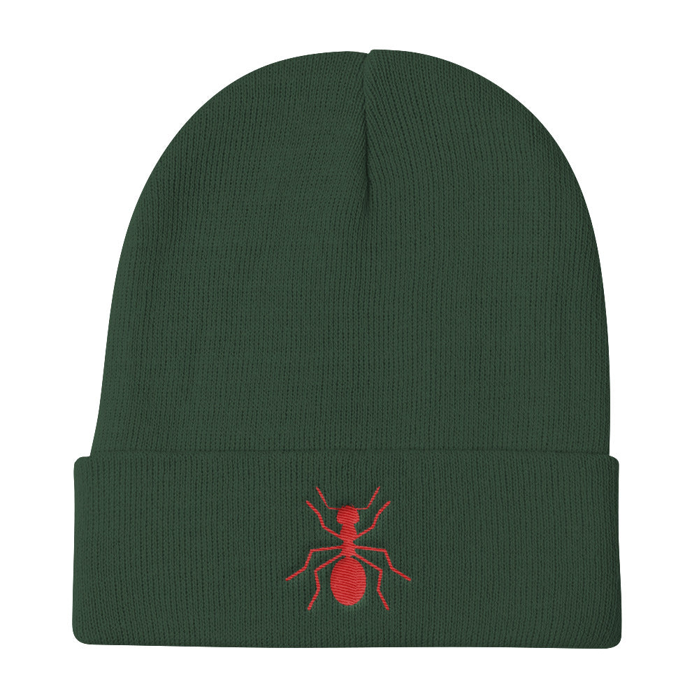 Knit Ant Beanie - Money Is A Defense