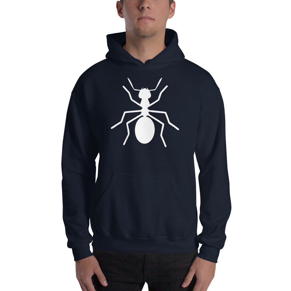 Hooded Ant Sweatshirt - Money Is A Defense