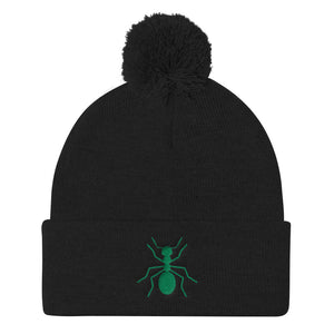 "Pom Green ""ANT"" Knit Cap - Money Is A Defense"