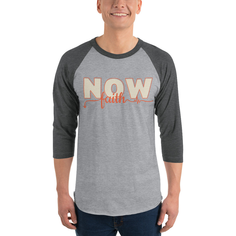 NOW Faith 3/4 sleeve raglan shirt