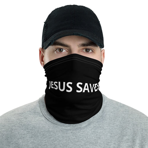 JESUS SAVES Neck Gaiter