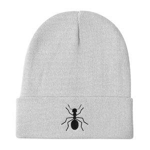 "Knit Black ""ANT Beanie - Money Is A Defense"