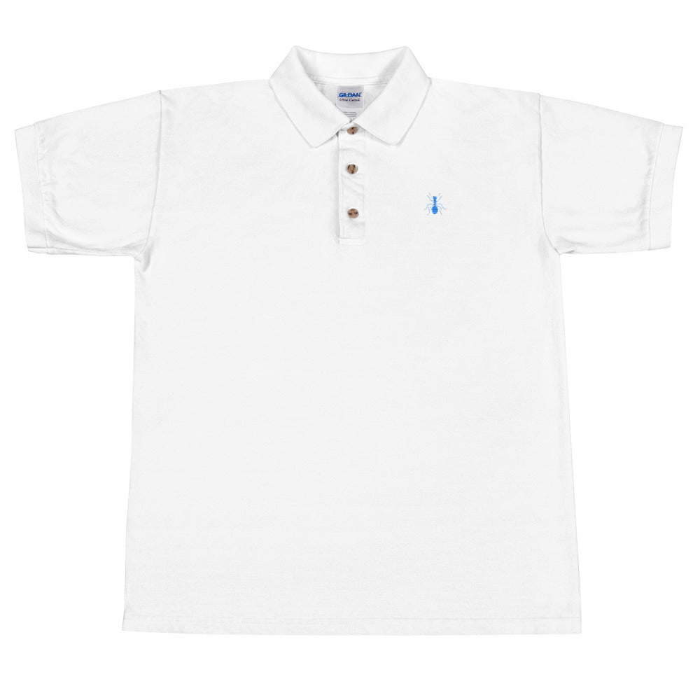 Multi-Color Embroidered Polo Shirt - Money Is A Defense