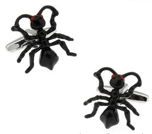 Ant Cufflinks Black Color Copper - Money Is A Defense