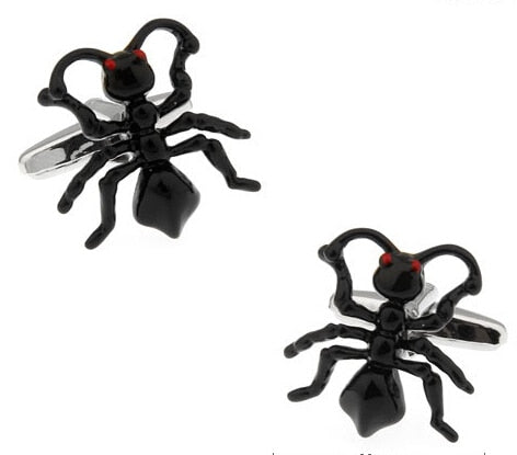 Ant Cufflinks Black Color Copper