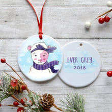 Ever the Polar Bear PWS Customizable Holiday Ornament