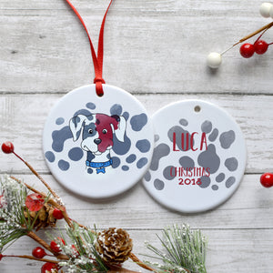 Dutch the Dalmation PWS Customizable Holiday Ornament