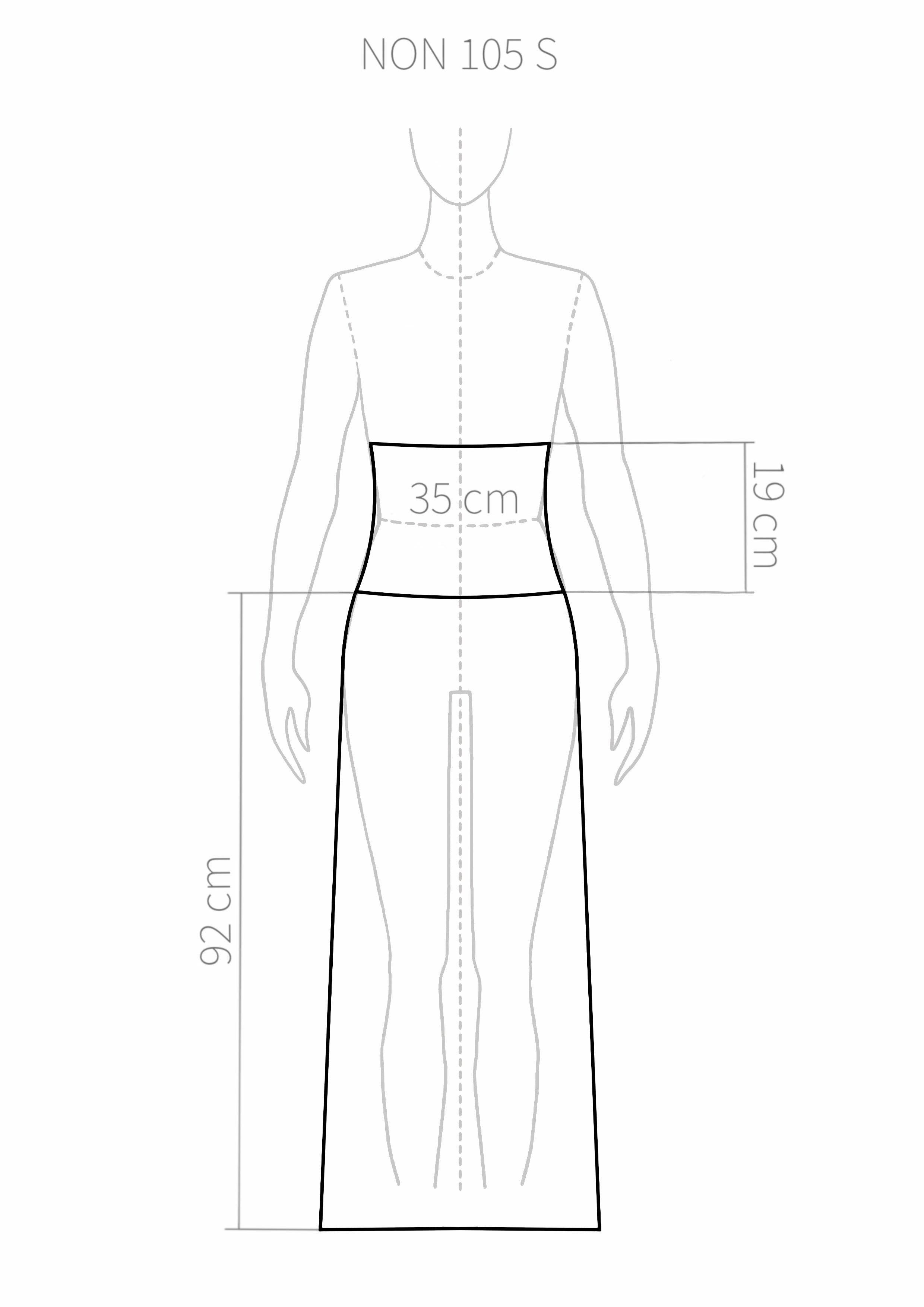NON105 Long skirt with turn-down waist