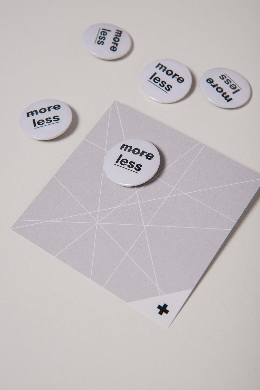 "NON10 ""less is more"" pin, white - 1 piece"