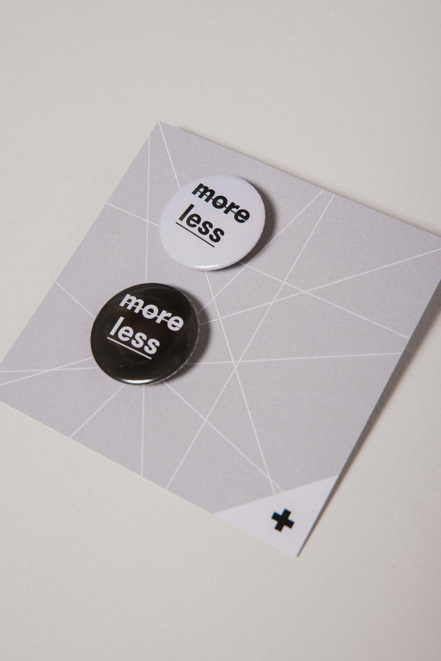 "NON10 ""less is more"" pin set of 2"