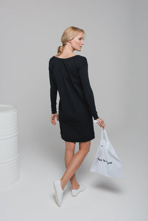 NON147 Round neck dress