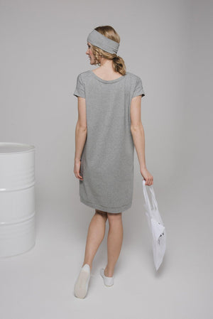 NON205 Round neck short sleeve dress