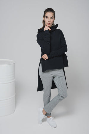 NON220 Hooded sweater coat