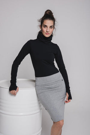 NON231 Knee length tight skirt