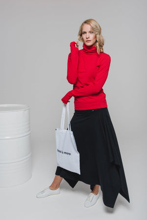 NON349 Turtleneck top with thumb hole