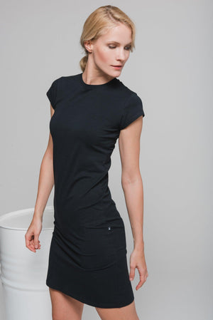 NON374 Short sleeve tight dress
