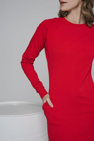 NON376 Raglan sweater dress