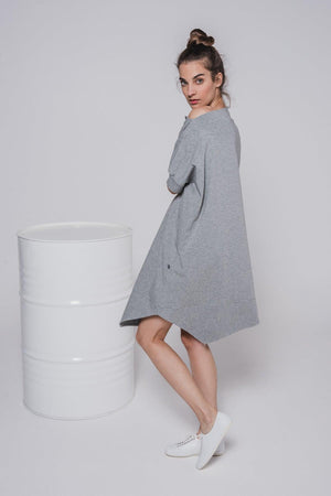NON446 Asymmetric Tunic Dress