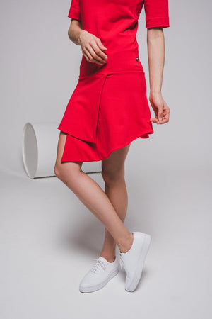 NON475 Short sleeve turtle neck dress