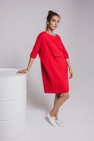 NON518 Bat dress with front pocket