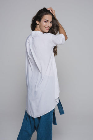 NON592 Shirt with standing collar