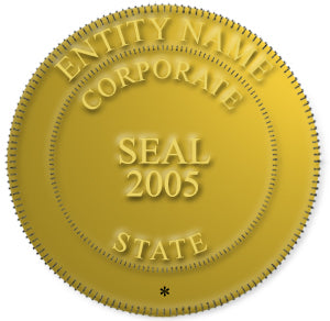 Corporate/Company 3-D Gold Digital Seal