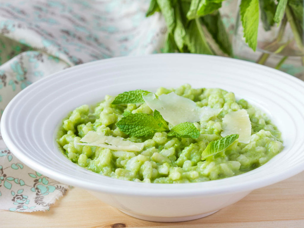 Fresh Pea Risotto with Mint