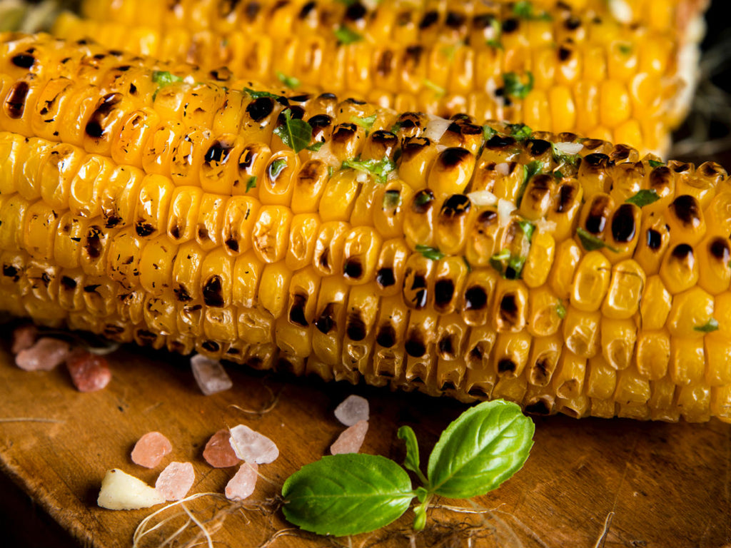 Grilled Sweet Corn on the Cob with Basil Butter Recipe