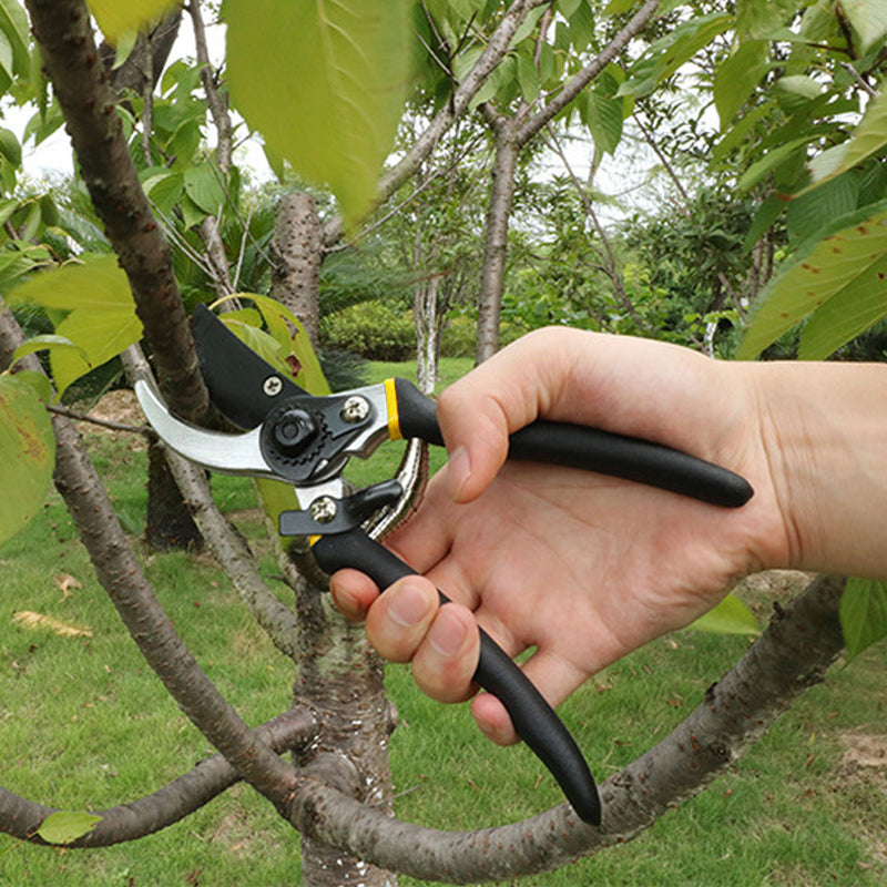 Professional Heavy Duty Pruning Shears with Safety Lock and Soft Grip