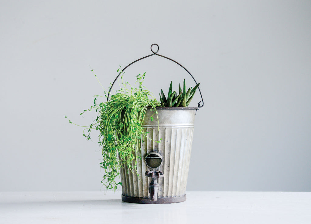 Wall Planter with Decorative Water Spigot