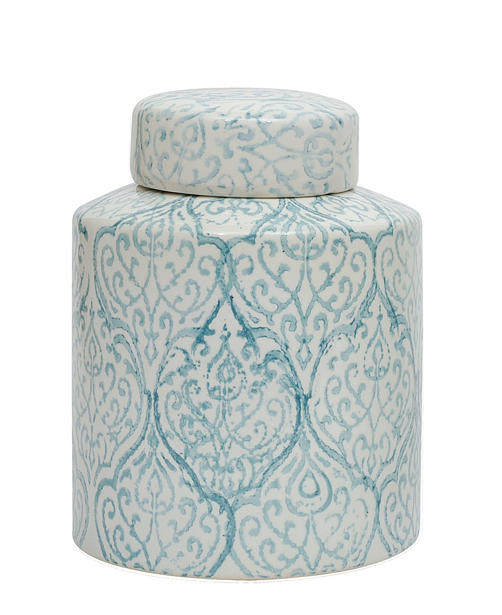 Blue & White Decorative Ceramic Ginger Jar with Lid