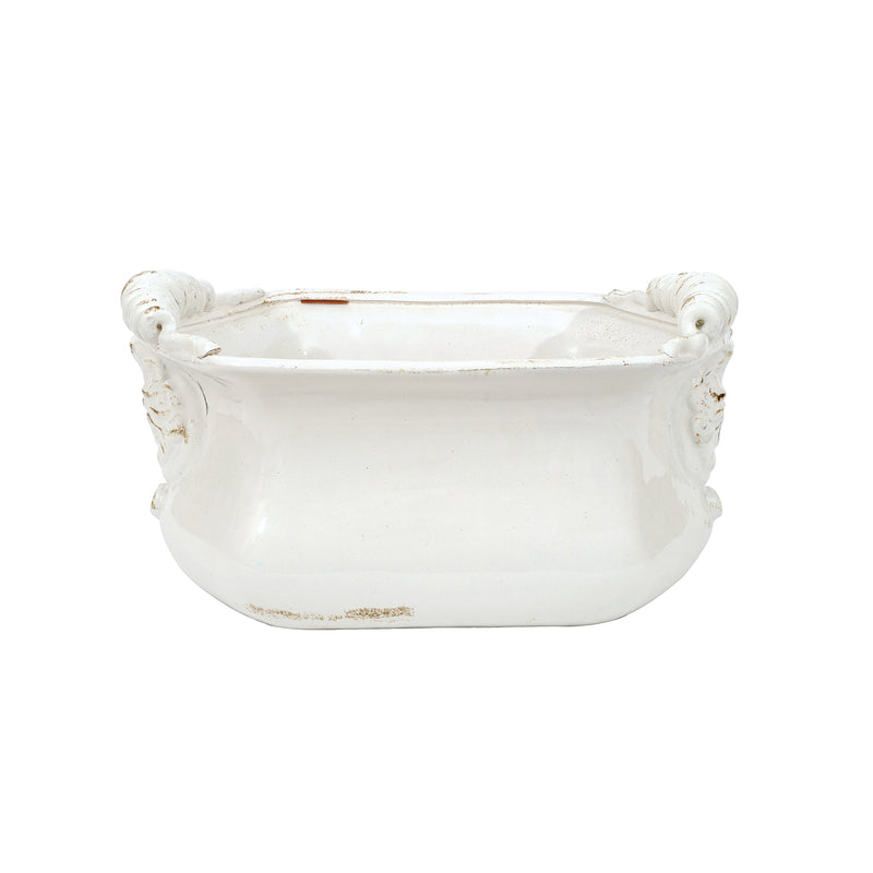 White Terracotta Cache Pot