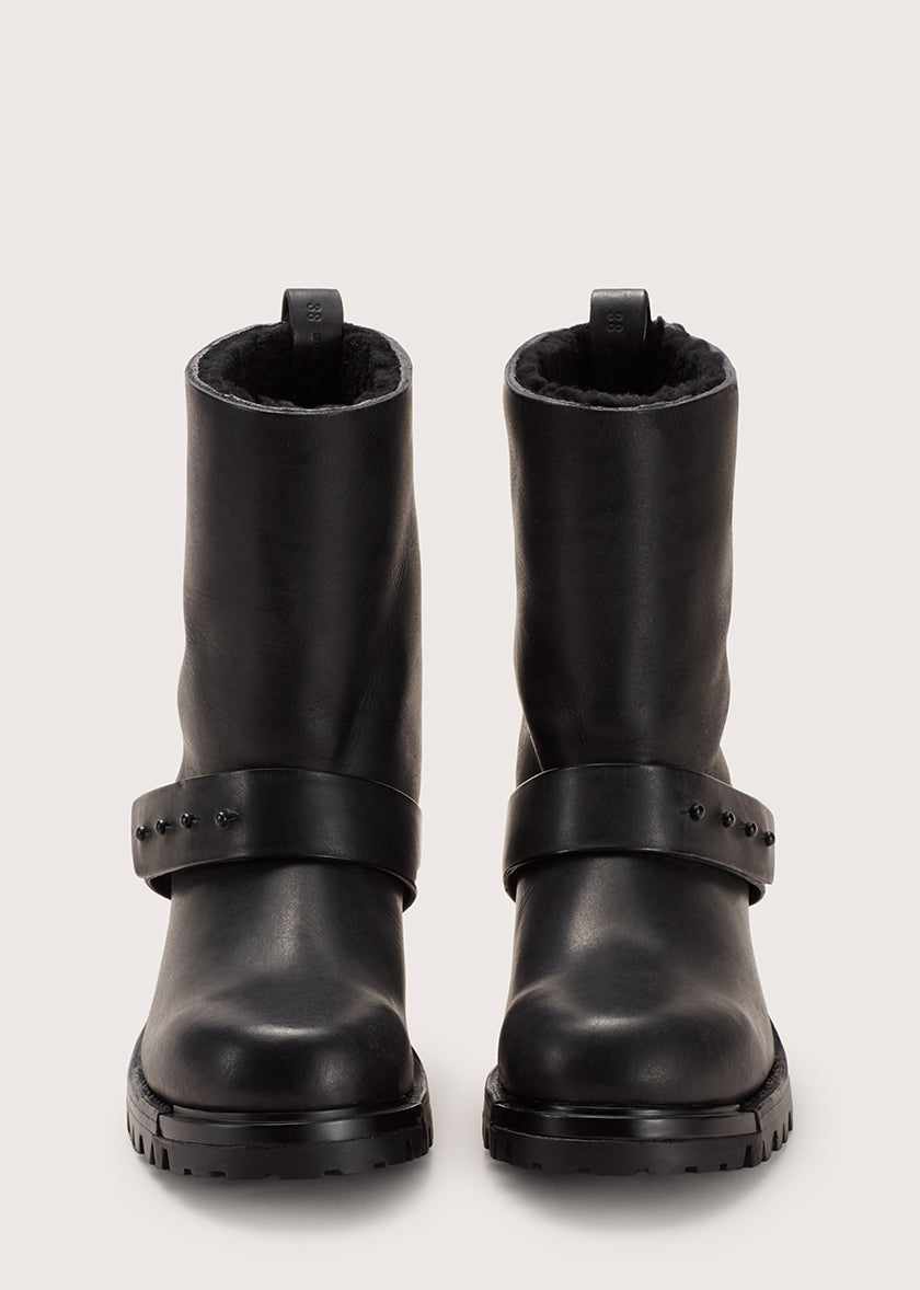METAL WOOL MOTO BOOT