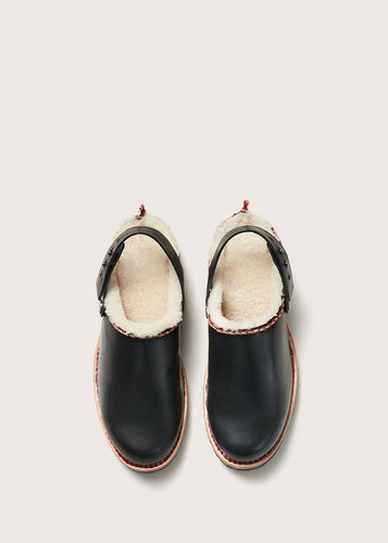 WHIPSTITCH SHEARLING CLOG