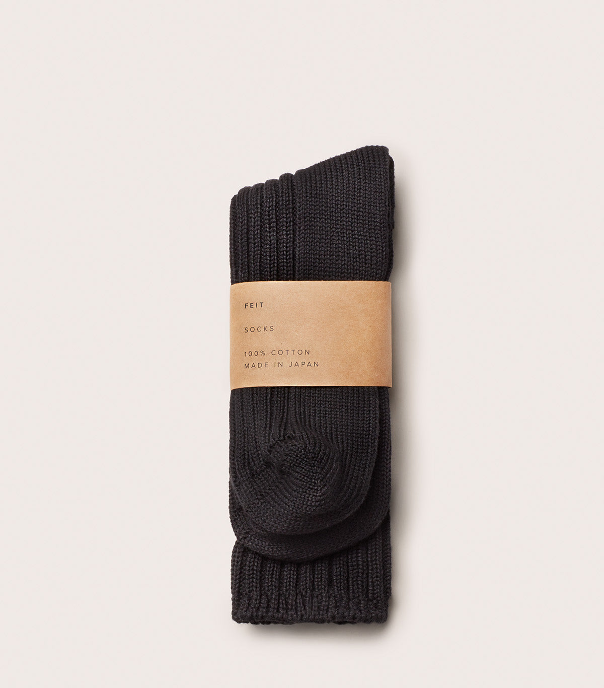 3 Pack Cotton Long Socks - AUSOCKJ3LC_BLK