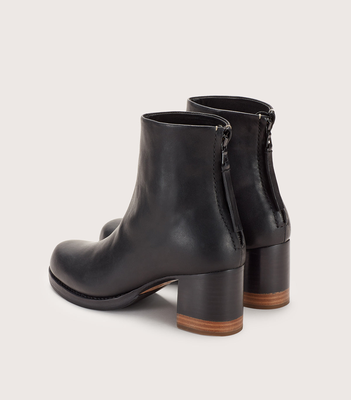 Bi Color Heel Boot