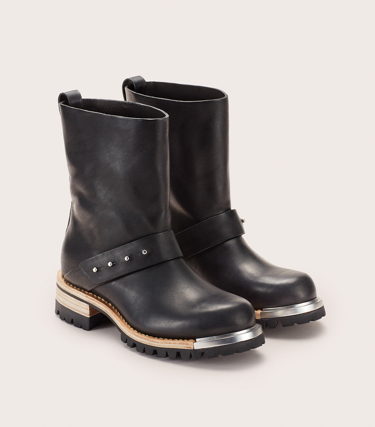 METAL UNLINED MOTO BOOT