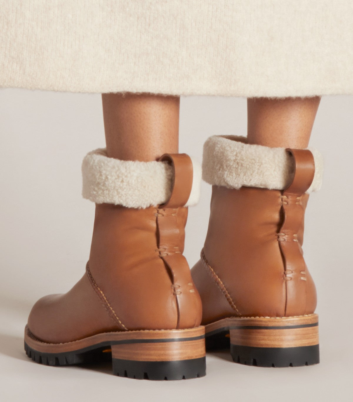 SHEARLING BOOT - WFSBTL_TAN