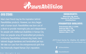 PawsAbilities Beef Dog Treats 3-6 oz bags🦴
