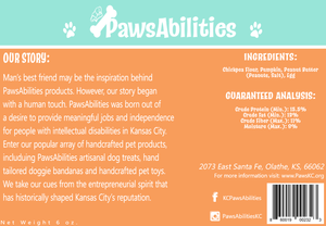 PawsAbilities Grain-Free Treats 3-6 oz bags🦴