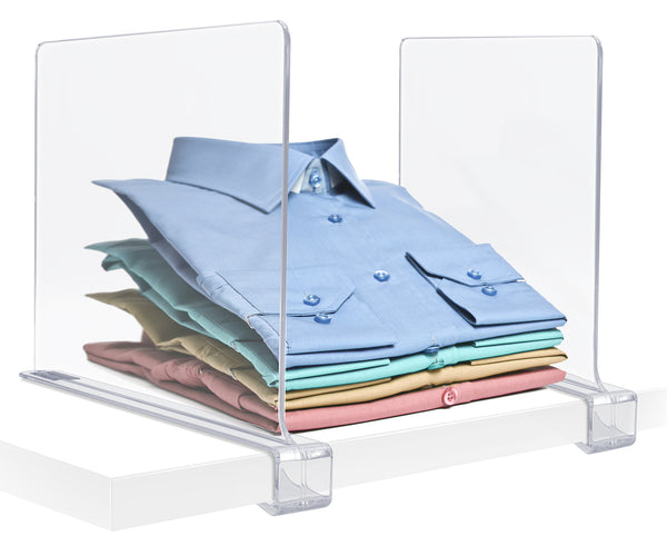 Clear Shelf Divider Set (Clip-On)