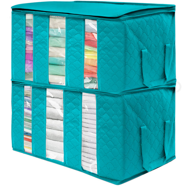 Foldable Storage Bag Organizers (2 Pack) - Sorbus Home