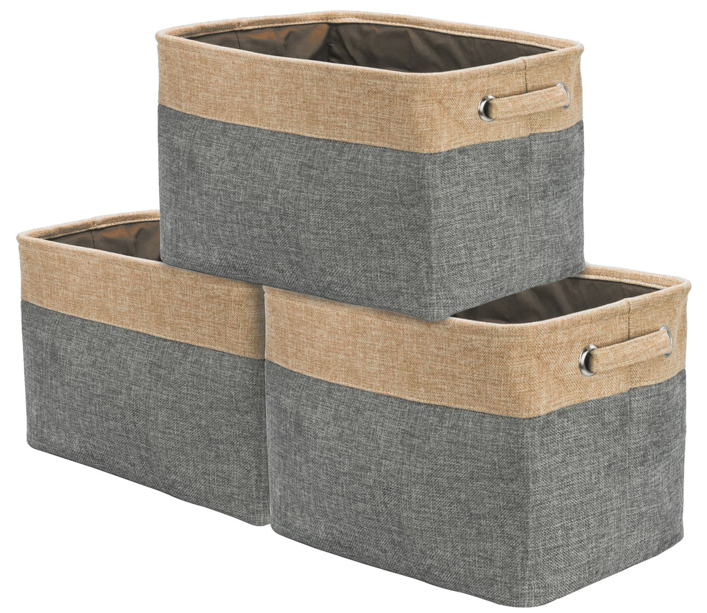 Twill Storage Basket Set (3-Pack) - Sorbus Home