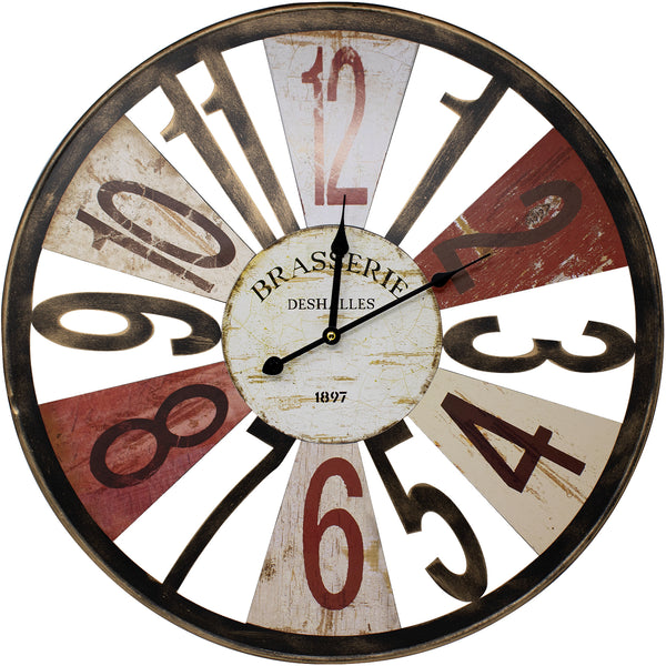 "Brasserie 24"" Wall Clock"